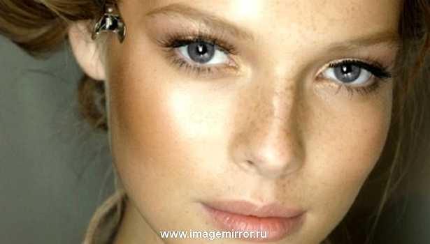 Естественный макияж для серых глаз