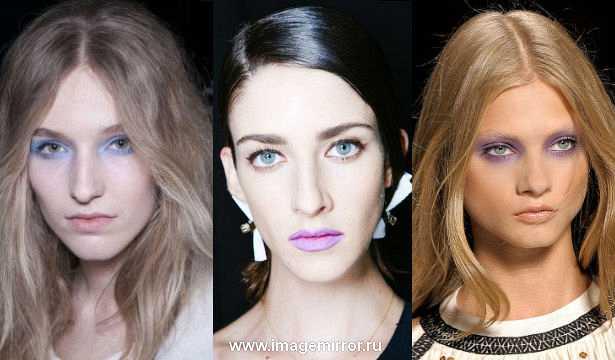 Тренд в макияже: фиолетовый цвет
